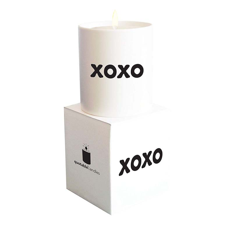 "Quotable Candle - ""XOXO"""