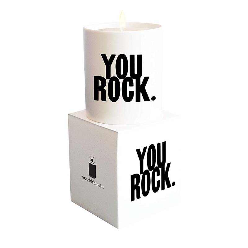 "Quotable Candle - ""You Rock"""