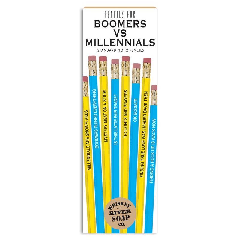 Pencils for Boomers vs. Millennials