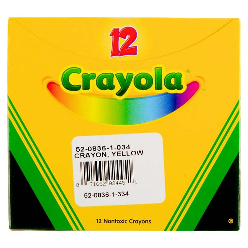 Bulk Crayons - Regular Size - Yellow
