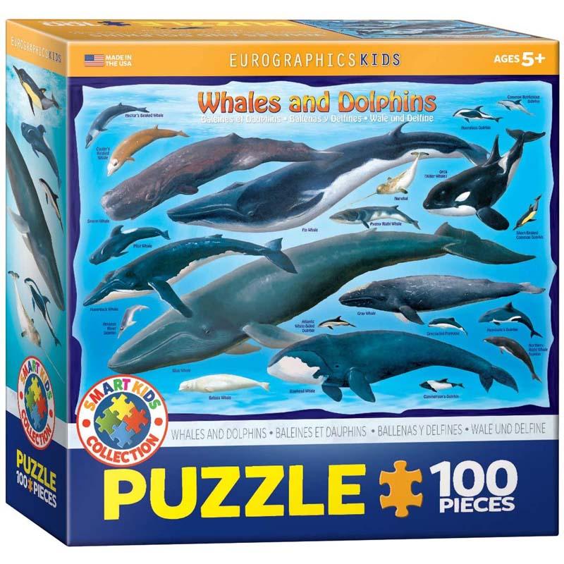 100 Piece Puzzle - Whales & Dolphins