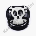 Black Pirate Skull Pacifier