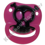 Pink Pirate Skull Pacifier