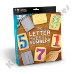 Letter Pressed Numbers
