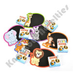 (Dozen) Zoo Animal Chalkboard Sets