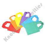 """(Dozen) 6""""x6"""" Fabric Tote Bags"""