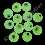 (Dozen) 32MM Glow In The Dark Eye Bouncy Balls
