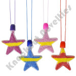 (Dozen) Star Sand Art Necklaces