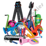 (24 Count) Inflatable Rock Band Instruments
