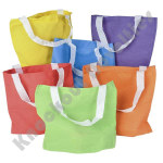 "(Dozen) 8.75"" Bright Color Tote Bags"