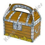 "(Dozen) 6.25"" Treasure Chest Treat Boxes"