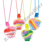 (Dozen) Sand Art Heart Necklaces