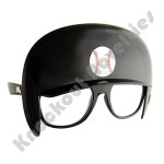 Sun-Staches: Baseball Helmet Game Shades - Black