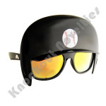 Sun-Staches: Baseball Helmet Game Shades - Black
