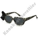 Zebra Print Nerd Sun-Glasses