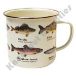 Mug - Enamel - Fish