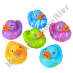 "(Dozen) 2"" Multicolored Pattern Rubber Duckies"