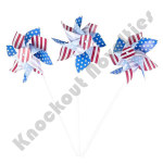 "(Dozen) 6"" Stars and Stripes Pinwheels"