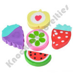 (48 Count) Fruit Erasers