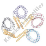 "(Dozen) 84"" Wooden Handle Jump Ropes"