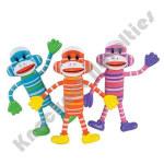 (Dozen) Bendable Sock Monkeys