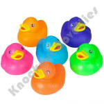 "(Dozen) 2"" Solid Color Rubber Duckies"