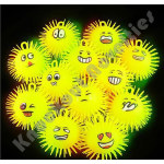 "(Dozen) 5"" Light-Up Emoticon Puffer Balls"