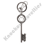 Keyring - Silver Master Key with Gem Beads