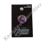 Pewter Lapel Pin - Captain America Shield Colored