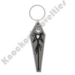 Soft Touch Keyring - Nightmare Before Christmas Jack in Coffin