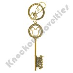 Keyring - Gold Master Key with Gem Beads