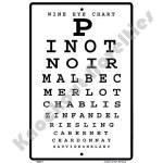 Wine Eye Chart - Sign