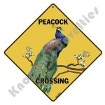 Peacock Crossing - Sign