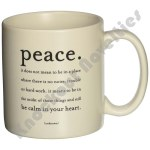 "Quotable Mug - ""Peace"" - Unknown"