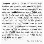 "Quotable Magnet - ""Promise Yourself"
