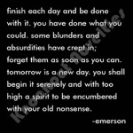"Quotable Magnet - ""Finish Each Day"