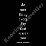 "Quotable Magnet - ""Do One Thing Every Day"