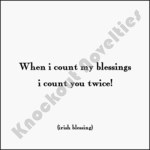 "Quotable Magnet - ""When I Count My Blessings"