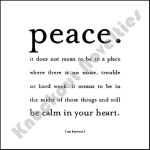 """Quotable Magnet - """"Peace. It Does Not Mean"""