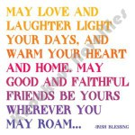 "Quotable Magnet - ""May Love And Laughter Light Your"
