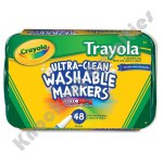 Crayola: 48 Piece Trayola Ultra-Clean Washable Markers Fine Line