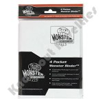 Monster Binder: 4 Pocket Matte White