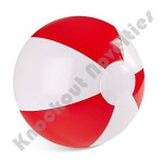 "(Dozen) 12"" Red And White Beach Balls"