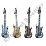 """(Dozen) 42"""" Inflatable Gold And Silver Guitar"""