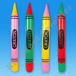 """(Dozen) 44"""" Inflatable Neon Crayon"""