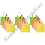 "(Dozen) 15""X16.5"" Neon Fabric Tote Bag"