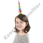"(Dozen) 7"" Rainbow Unicorn Horn Headband"