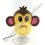"8.75"" Sparkle Monkey Lamp"