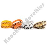 (Dozen) Rubber Safari Print Bracelets