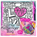 Glitter Messenger Bag Coloring and Decorating Kit